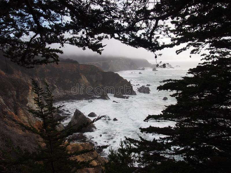 Stor Sur kustlinje royaltyfria bilder