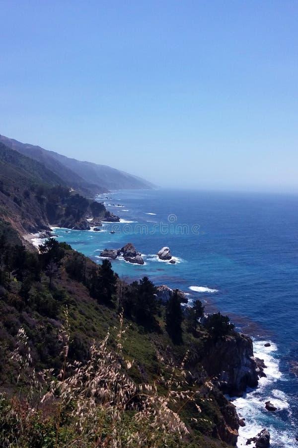 Stor surkust, Kalifornien, USA royaltyfri fotografi