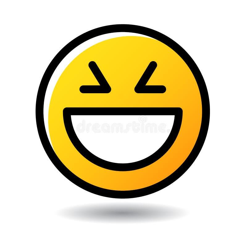 Stor symbol för emoji för skrattframsidaemoticon vektor illustrationer