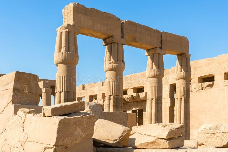 Stor tempel av Amun på Karnak Luxor Egypten royaltyfri foto