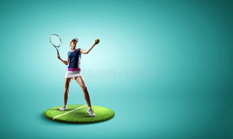 Stor tennisspelare Blandat massmedia arkivfoton