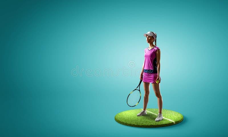 Stor tennisspelare Blandat massmedia royaltyfri fotografi