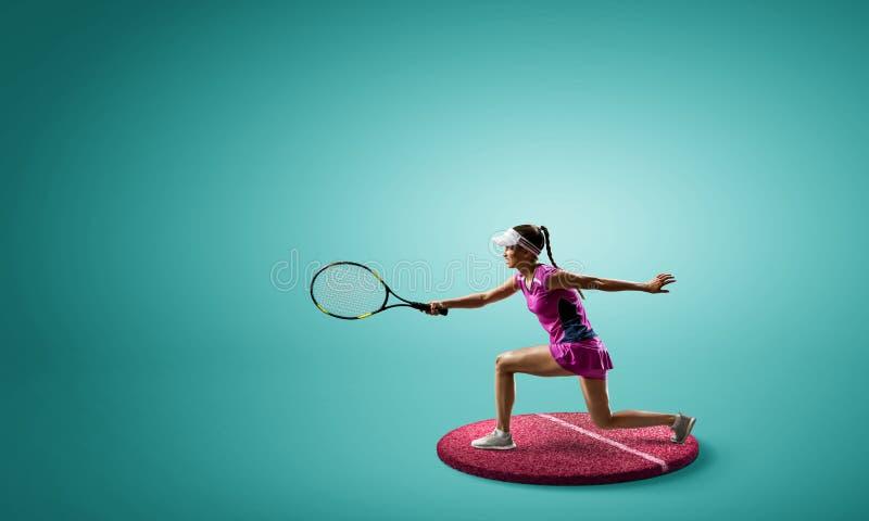 Stor tennisspelare Blandat massmedia arkivbilder