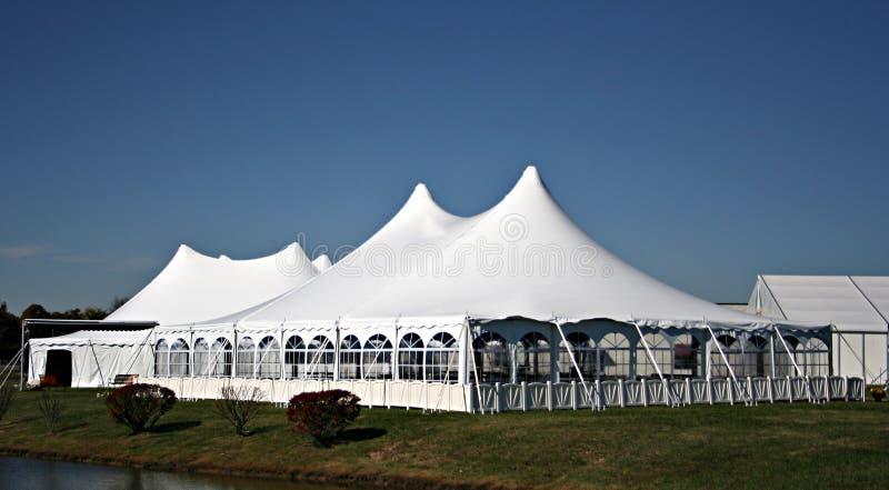 stor tentbröllopwhite royaltyfria bilder