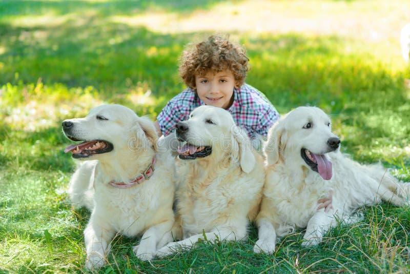 Stor tid med kära husdjur royaltyfria bilder