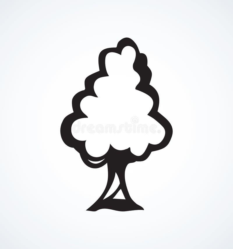 Stor tree Vektorn skissar vektor illustrationer