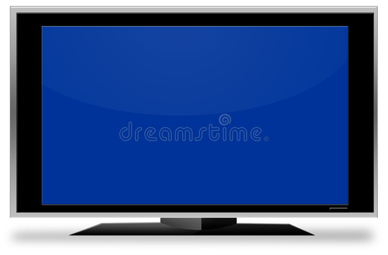 stor tv för blå skärm arkivfoton