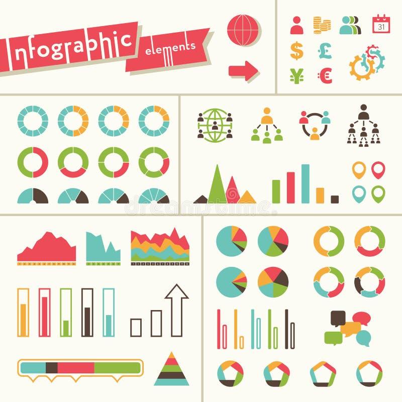 Download Stor Uppsättning Av Infographicsbeståndsdelar Vektor Illustrationer - Illustration av rapport, design: 37347501