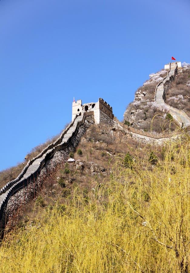 Stor vägg av Huanghuacheng fotografering för bildbyråer