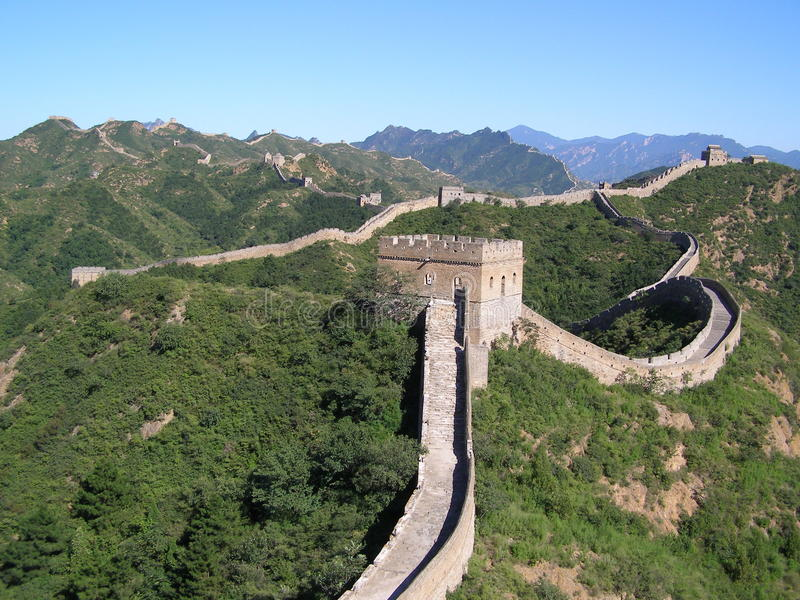Stor vägg av Kina arkivbilder