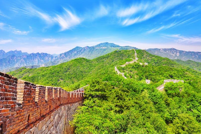Stor vägg av Kina, avsnitt royaltyfri foto