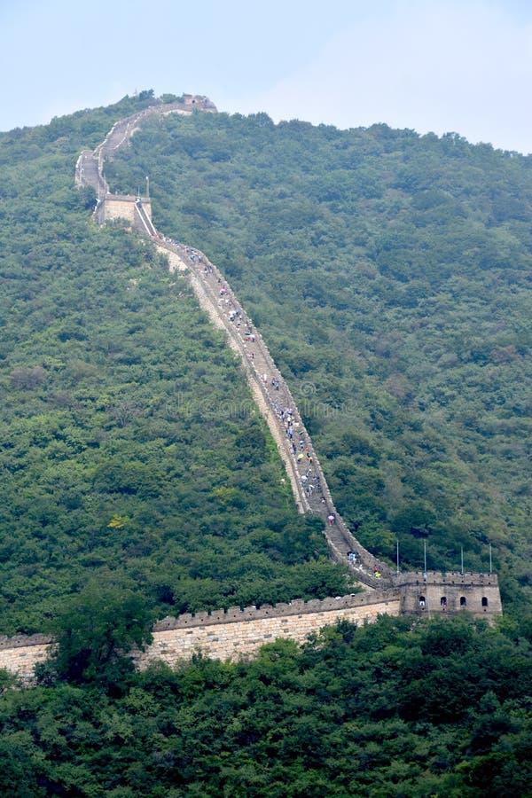 Stor vägg av Kina på Mutianyu, Peking, Kina royaltyfria foton