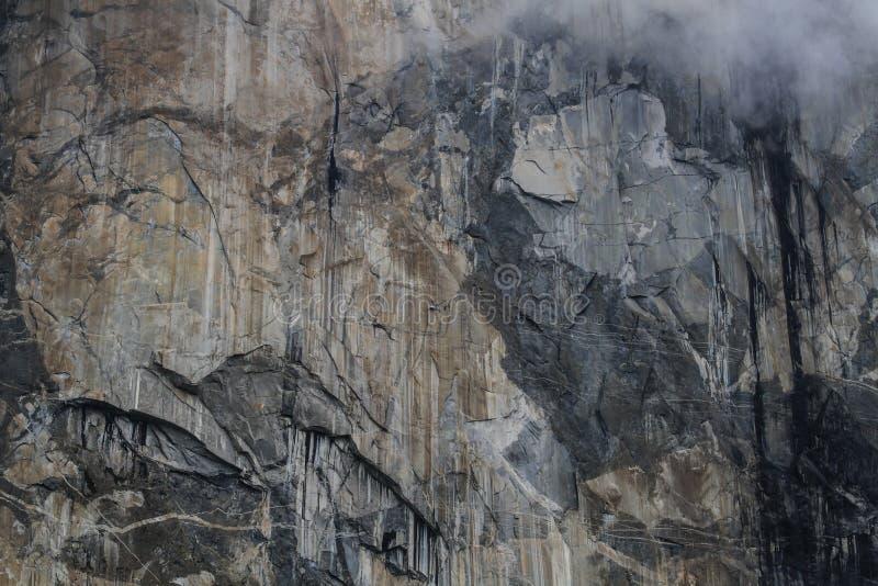 Stor vägg Cimbing, Yosemite arkivbilder