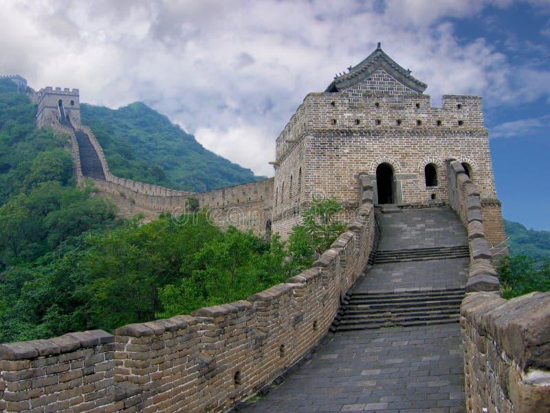 stor vägg för porslin arkivbilder