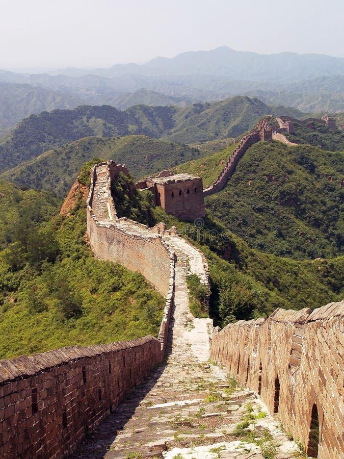 stor vägg för porslin 5 arkivbild