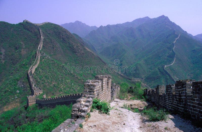 stor vägg för porslin royaltyfria foton