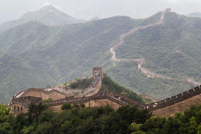 Stor vägg i Peking, Kina royaltyfri bild