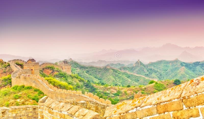 Stor vägg vid Jinshaling royaltyfria bilder