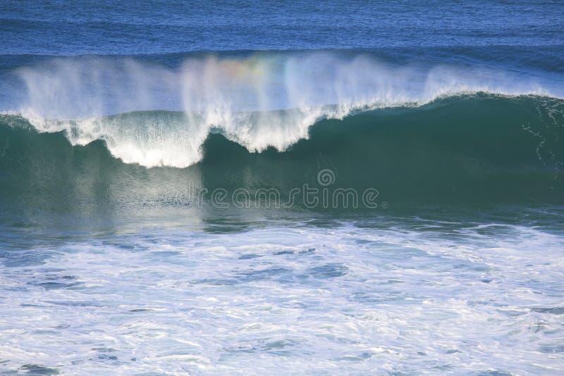 Stor våg för havsbränning arkivbild