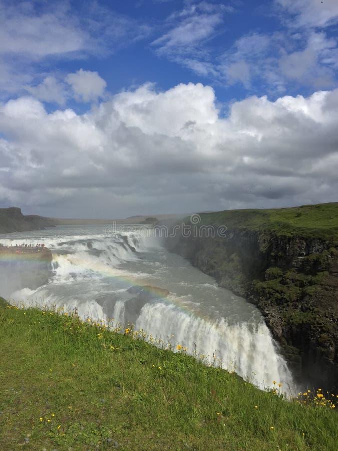 stor vattenfall arkivfoto