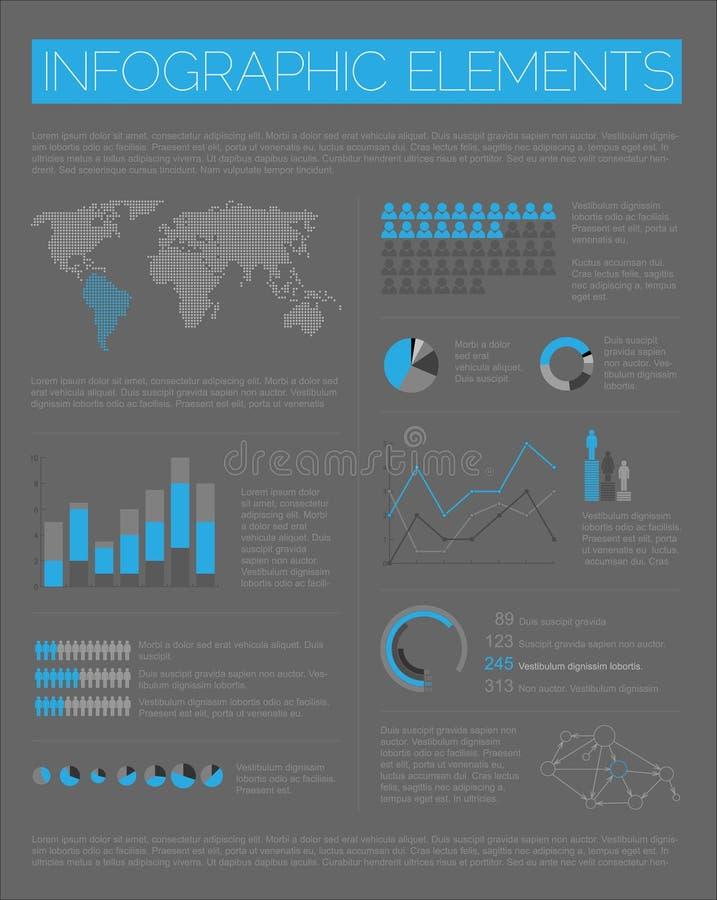 Stor vektorset av Infographic element stock illustrationer