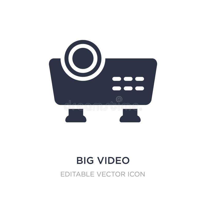 stor video projektorsymbol på vit bakgrund Enkel beståndsdelillustration från multimediabegrepp vektor illustrationer