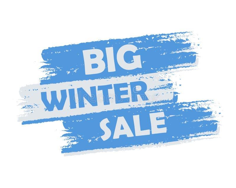 Stor vinterförsäljning vektor illustrationer