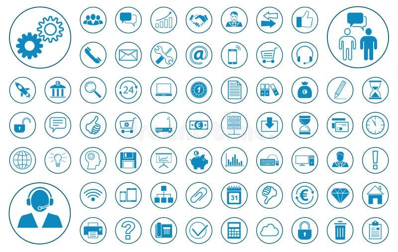 Stora affärersymbolsuppsättning stock illustrationer