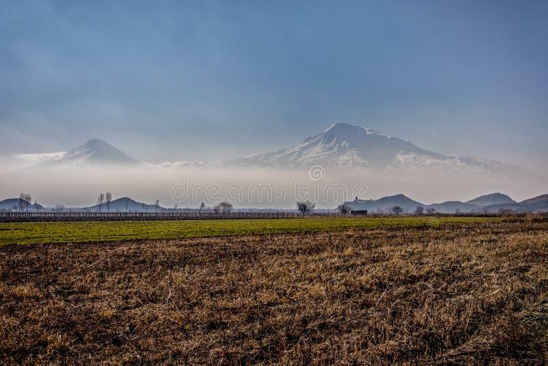 Stora Ararat, Khor Virap kloster arkivbild