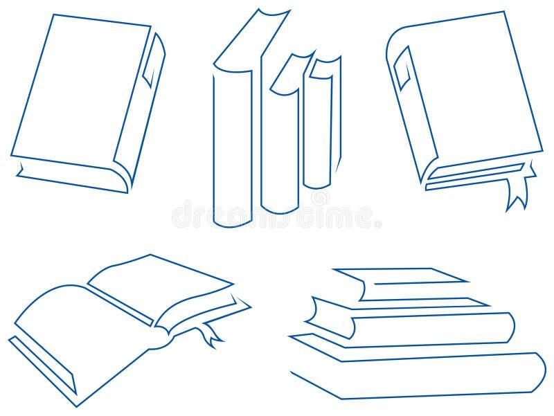 stora böcker vektor illustrationer