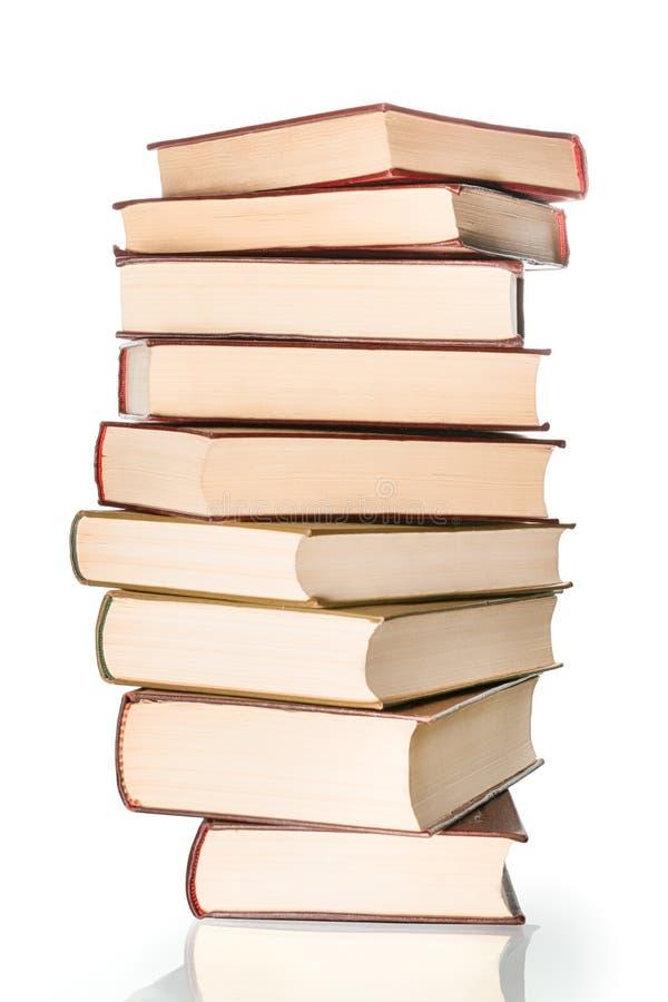 Stora böcker traver isolerat arkivbilder