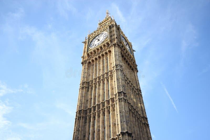 Stora Ben Houses av den parlamentWestminster slotten London gotisk ar arkivfoton
