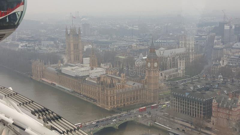 Stora ben london westminster vue de haut arkivfoto