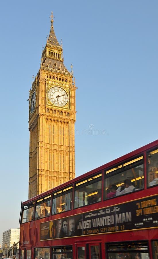 Stora ben och London buss, London arkivfoton