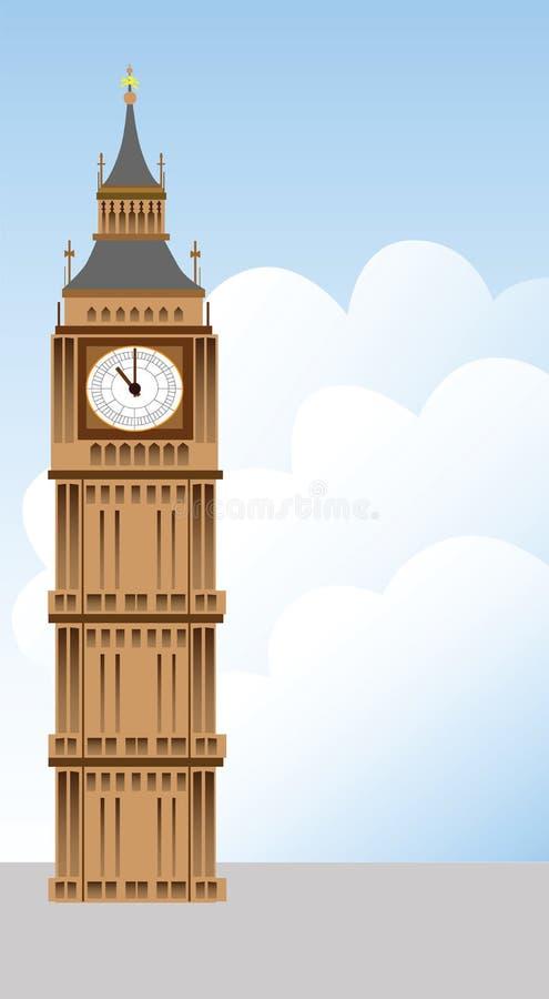 Stora Ben torn och oklarhetsillustration vektor illustrationer