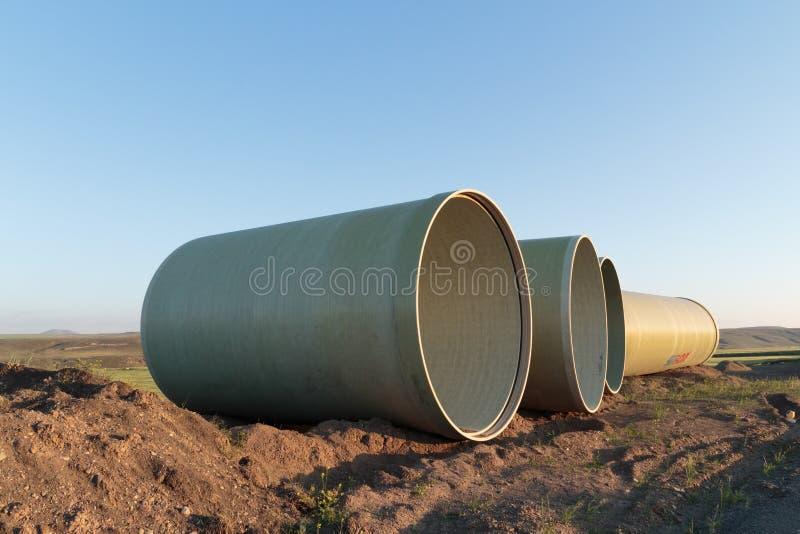 Stora betongrör arkivfoto