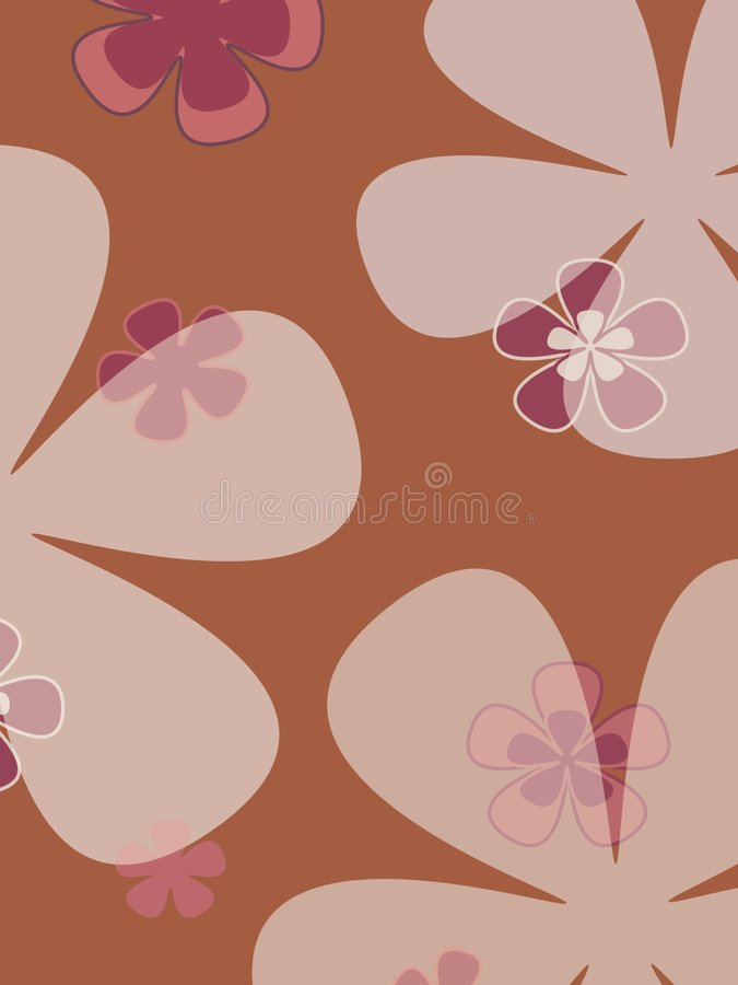 stora blommor stock illustrationer