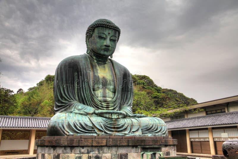 Stora Buddha i Kamakura fotografering för bildbyråer