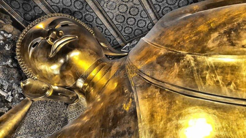 Stora buddha Wat Pho arkivbilder