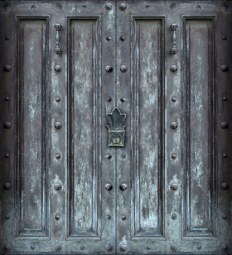 Download Stora dörrjärnheltäckande fotografering för bildbyråer. Bild av dörrhandtag - 517217