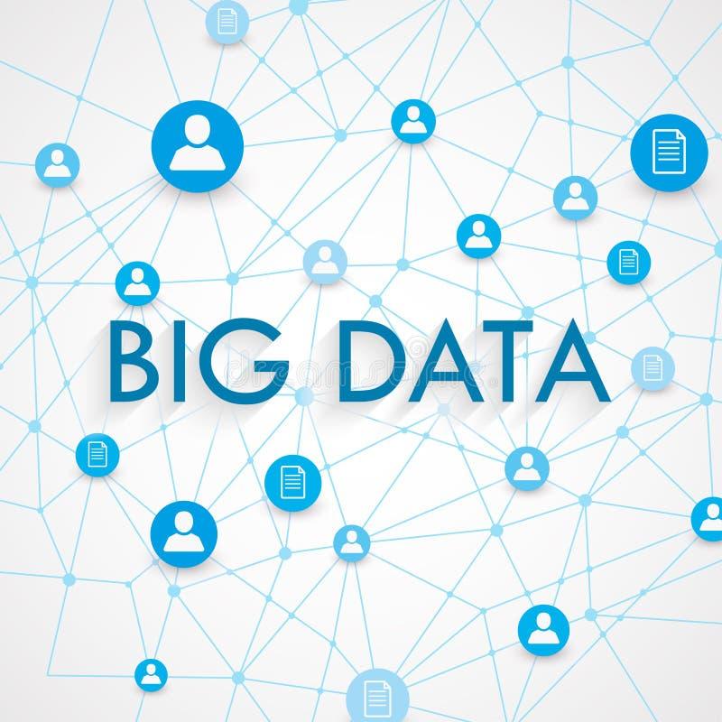 Stora data stock illustrationer