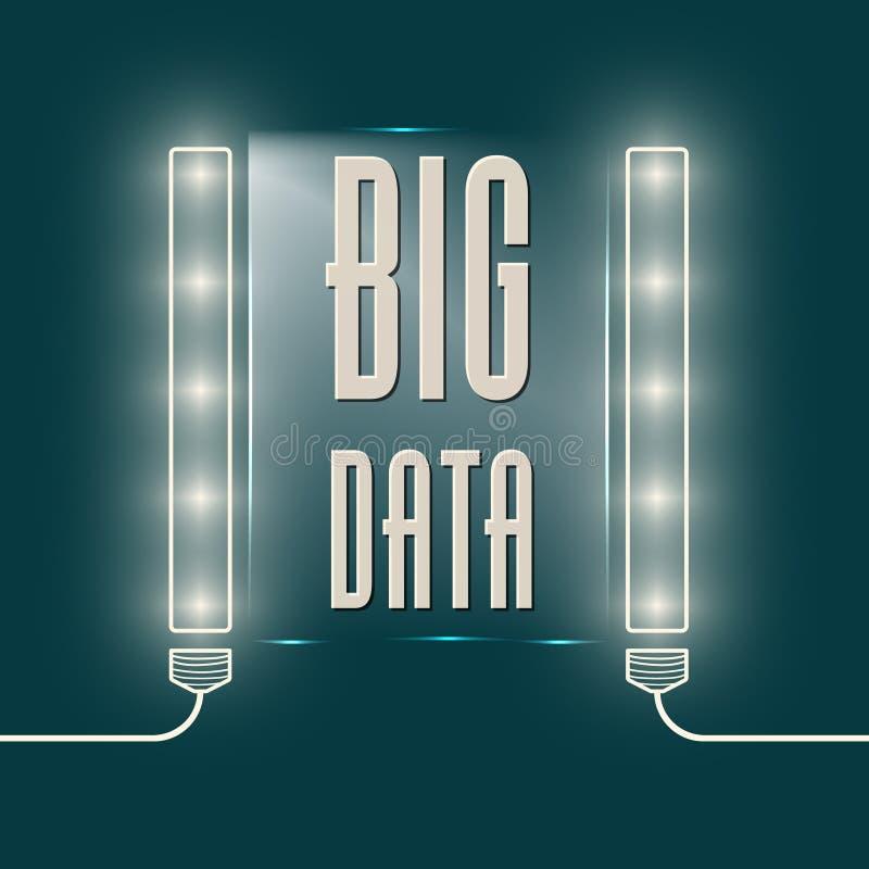 Stora data royaltyfri illustrationer