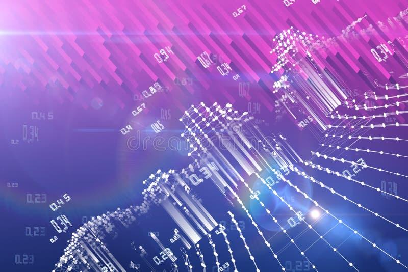 Stora data Abstrakt analysinfographics på lutningbakgrund Spatio temporala bryta data vektor illustrationer
