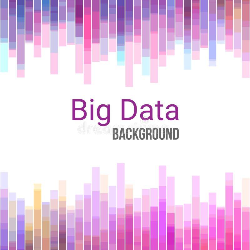 Stora datadiagram Färgrik abstrakt geometrisk affärsbakgrund vektor illustrationer