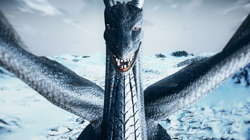 Stora Dragon Fly Close upp stock illustrationer