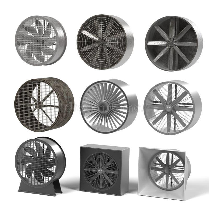 Stora fans stock illustrationer
