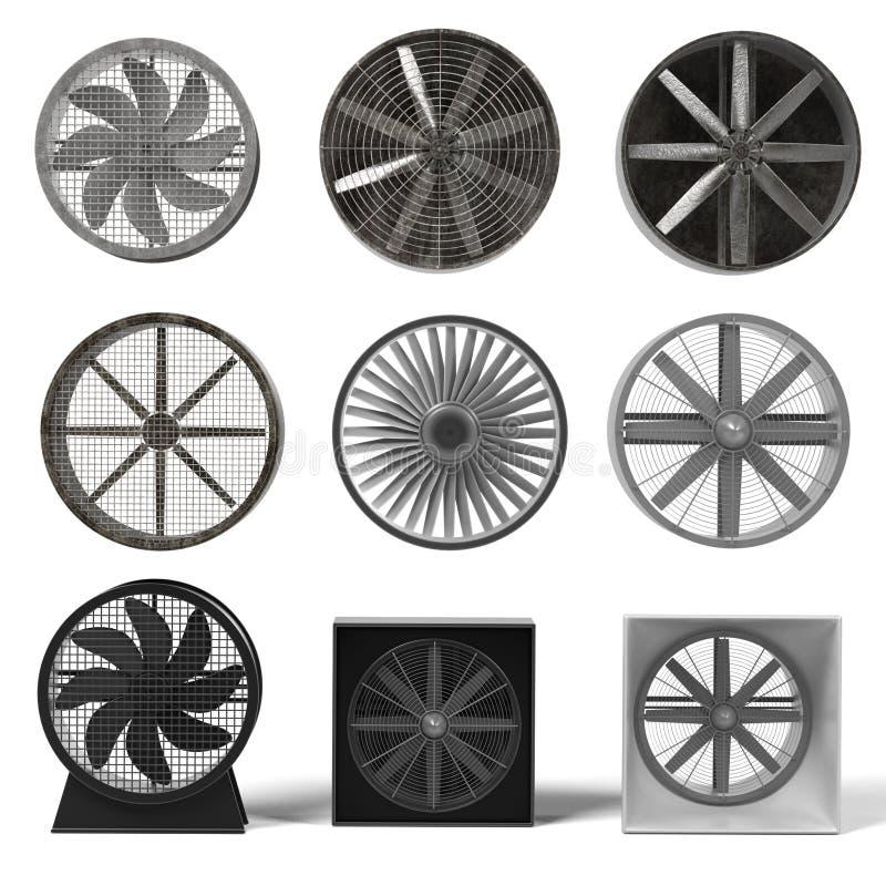 Stora fans royaltyfri illustrationer