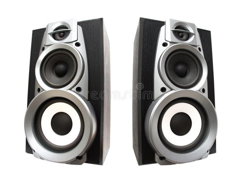 stora höga högtalare två royaltyfri fotografi
