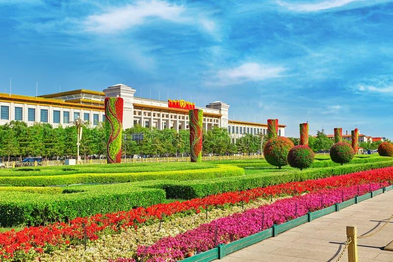 Stora Hall av folket (nationellt museum av Kina) på Tiananme royaltyfria bilder