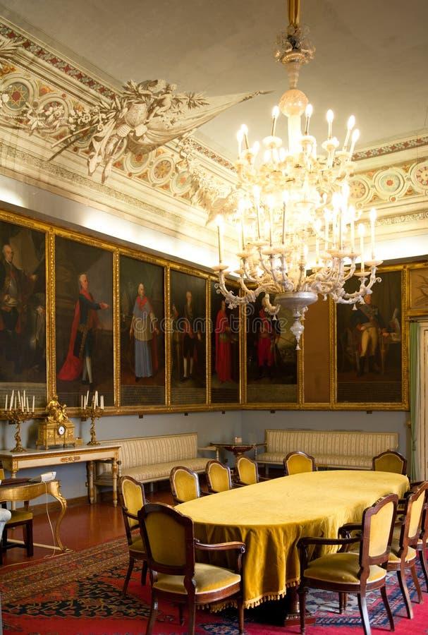Stora Hall, 12th C Norman Palace, Palermo fotografering för bildbyråer